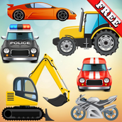 Vehicles and Cars for Toddlers and Kids : play with trucks, tractors and toy cars !