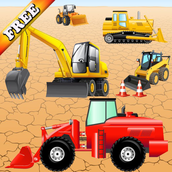 Digger Puzzles for Toddlers and Kids : play with construction vehicles ! Puzzle Games FREE