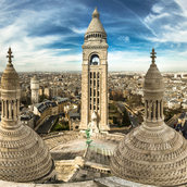 Elevated Panorama from Sacre Coeur Dome(France)