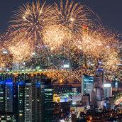 Gorgeous fireworks wallpaper
